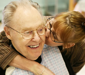 Familiar con Alzheimer